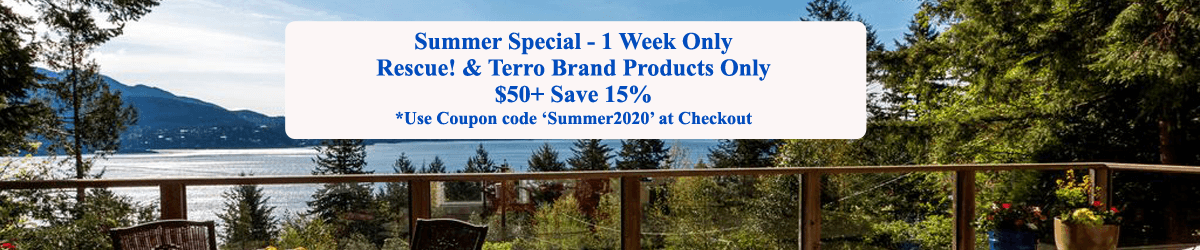 Save 15% on Rescue! and Terro Brand Products