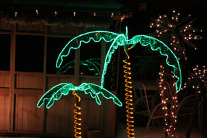 LED Ropelight Palm Tree 7' Indoor and Outdoor Lighting